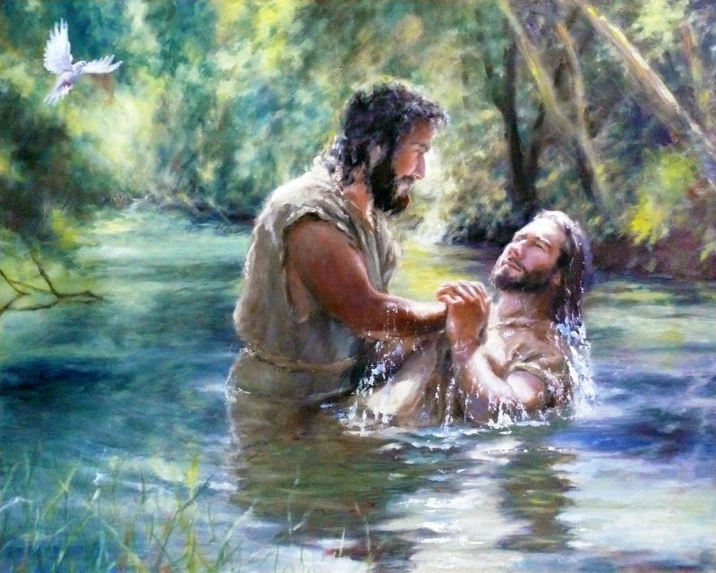 Baptism of Jesus in the Jordan River