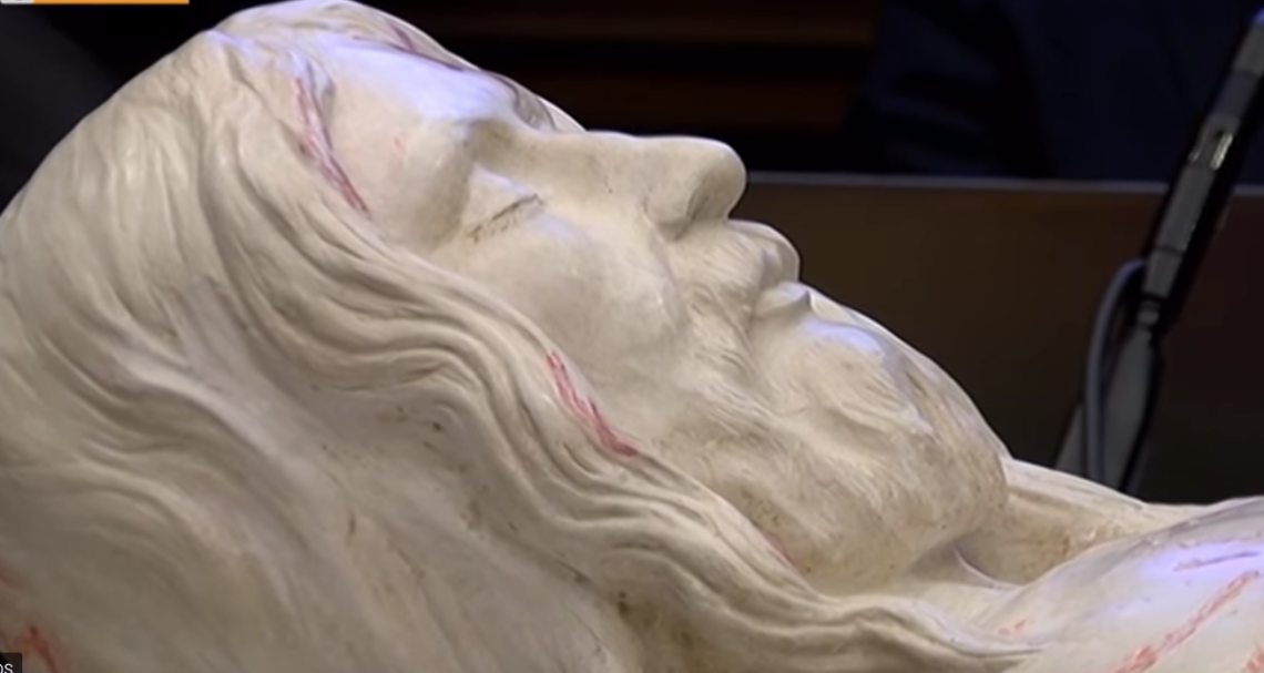3D Statue of Jesus Christ by Giulio Fanti created from The Shroud of Turin