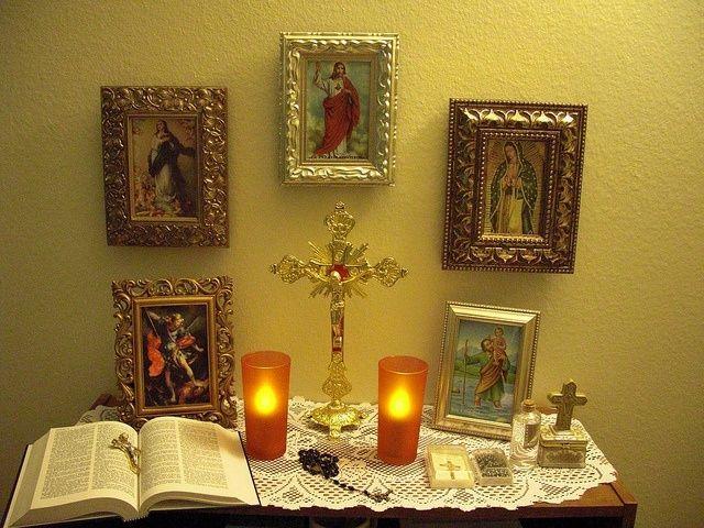 The Catholic Christian Home Altar