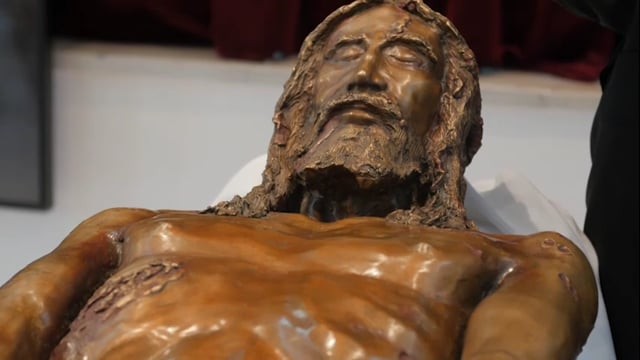 3D Bronze Statue of Jesus Christ by Luigi Mattei created from The Shroud of Turin